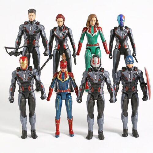 Avengers endgame lot of 8 figures iron man ant man nebula hawkeye black widow