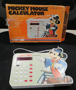 0097aa3fa42a7 1970s Vintage Mickey Mouse Calculator Model 4610 by Concept 2000 in ...