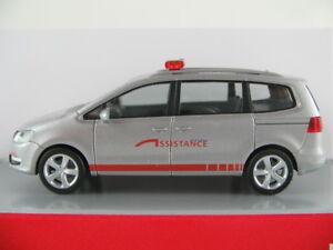 Herpa-048903-VW-Sharan-II-2010-034-assistance-034-en-plata-metalica-1-87-h0-nuevo-en-el-embalaje
