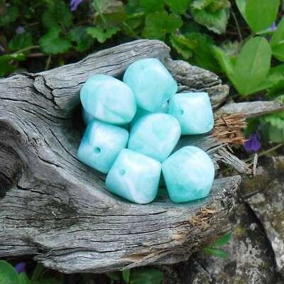 20 Perles Résine Nuancée Palet Oval Bombé Lilas Pastel