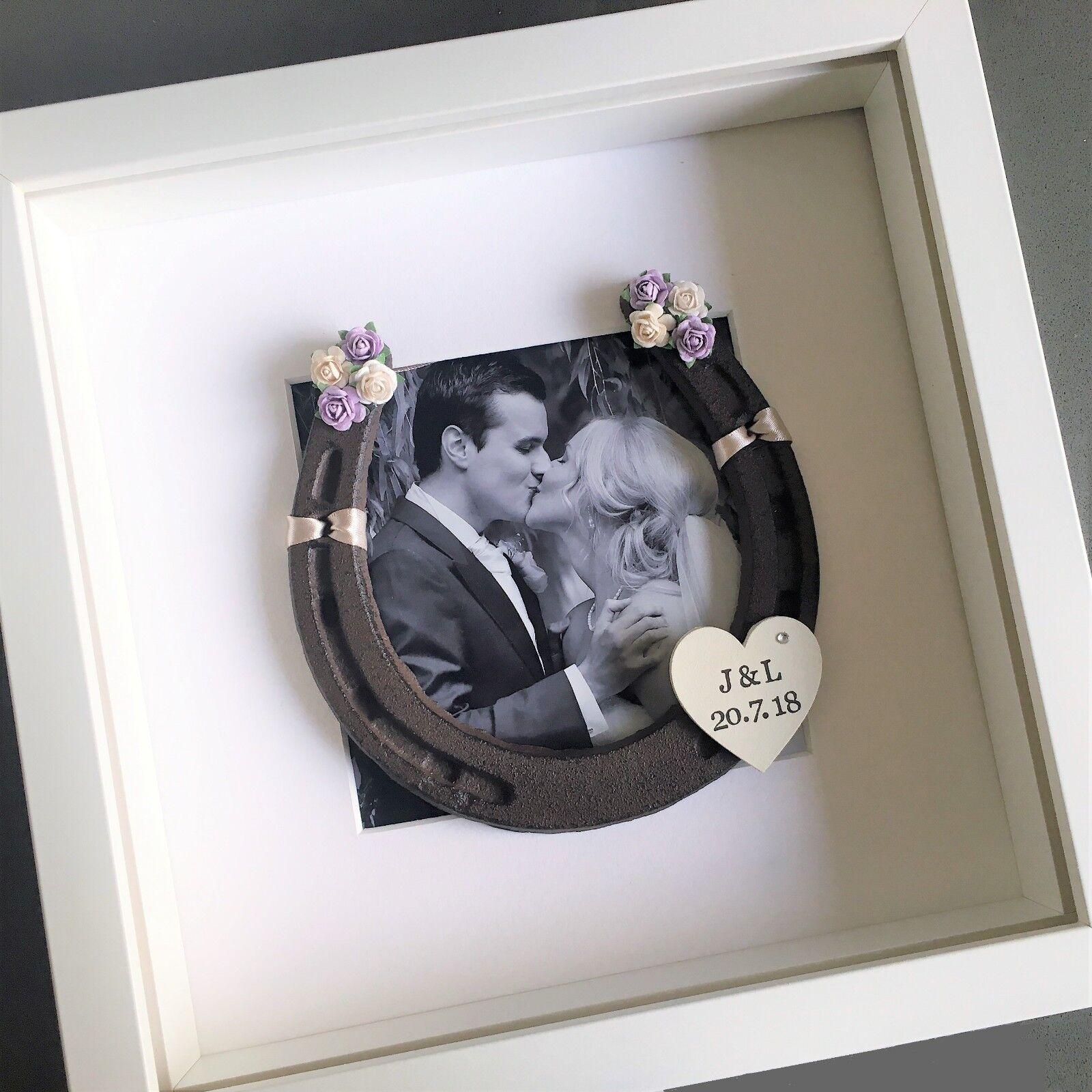 VALENTINES WIFE Personalised horse schuhe frame anniversary wedding Birthday gift
