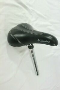 Columbia-Black-Bicycle-Seat-with-Post
