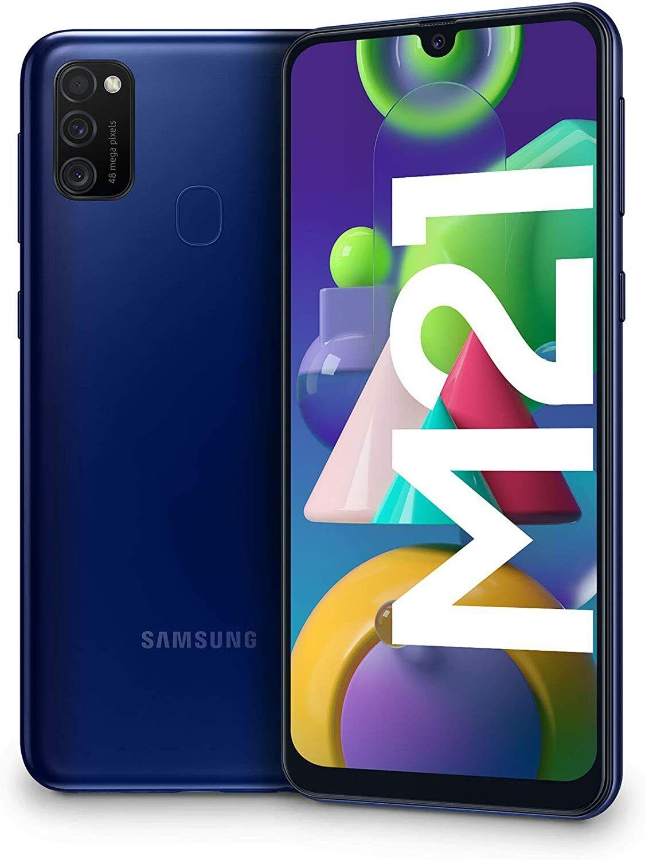Samsung Galaxy: Samsung Galaxy M21, Smartphone, Display 6.4″ 4/64GB Batteria 6000 mAh BLU BLUE