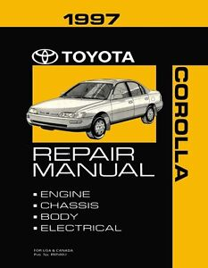 1997 toyota corolla shop service repair manual book engine rh ebay com 1997 toyota corolla repair manual Indus Toyota Corolla 1997 Manual