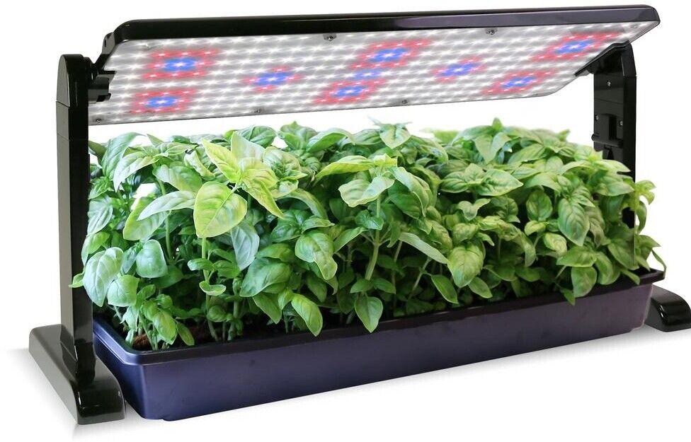 AeroGarden Grow luz del panel del plástico de 45 vatios 2 Negro Interior Adaptador de soporte de piernas