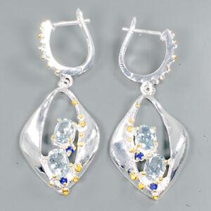 Fine-Art-SET-Natural-Blue-Topaz-925-Sterling-Silver-Earrings-E30987