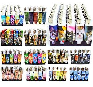 50 x Elektronische Feuerzeuge Elektronik Feuerzeug Nachfüllbar auf Display NEU