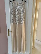 BLUMARINE BLUGIRL Maxi Pleated Lace Top Swarovsky Crystals Dress  IT 44 UK 12