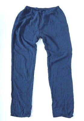 Onestà Women's Vintage Pike Pull On Leggero Affusolato Blu Navy Viscosa Pantaloni W34 L32-mostra Il Titolo Originale