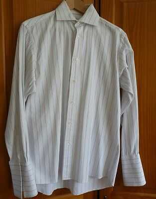 Shirts Objective Daniel Hechter Long Sleeved Pinstripe Shirt Double Cuff Size 14.5/37 100% Cotton Catalogues Will Be Sent Upon Request Clothing, Shoes & Accessories
