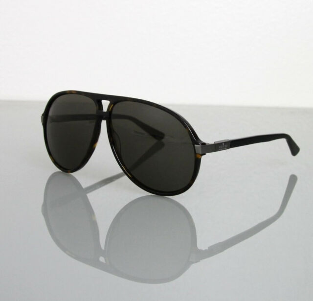a586d43fc31f6 NEW Authentic Gucci Aviator Sunglasses GG1649 s JJ376 Gray Blue W ...