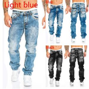 Nuevo Para Hombres Stretch Ripped Skinny Fit Denim Jeans Pantalones Informales De Moda Hip Hop Ebay
