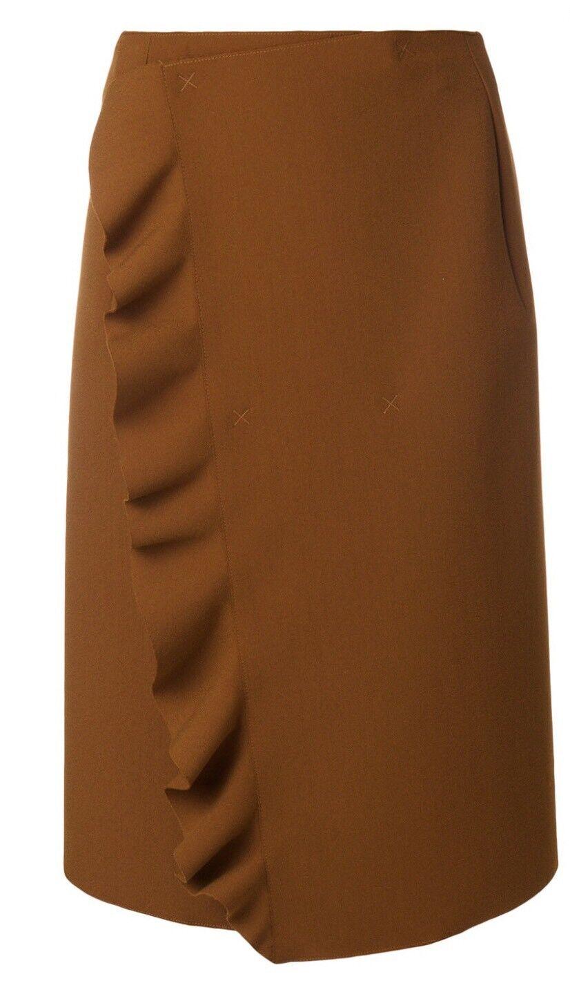 MSGM karamellbspringaa ruffilad kjol.IT 42  BNWT
