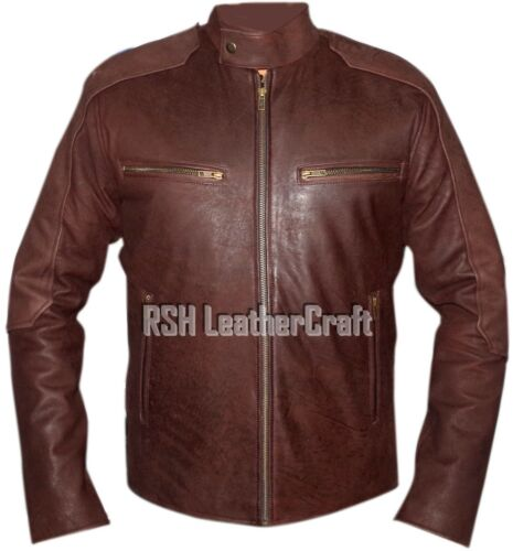 Captain America Civil War Steve Rogers Brown Distressed Real Leather Jacket