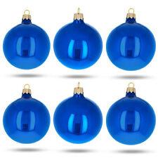 Northlight WY00756 Blue Glass Ball Christmas Ornament Set 3.25