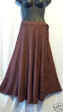 Women Clothing Long Wrap arond Skirt Beach Dress Vintage African Brown Free Size