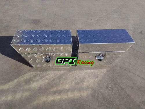 "30/""x10/""x 16/"" Pair Aluminium Undertray Under Tray Underbody Ute Tool Box"