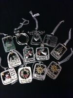 Ganz Sentiment Christmas Ornaments In High Polish And Satin Finished Fine Pewter