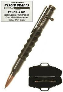 Details about Bolt Action 7mm Pencil In Rifle Case with Rebar Body & Gun  Metal Hardware / #283