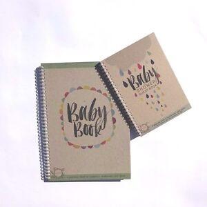 rhicreative baby shower guest book baby milestone record book baby