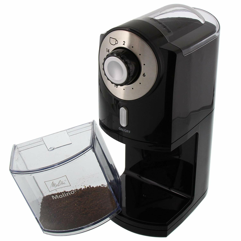Melitta Molinillo de café eléctrico Profesional con Disco Extraible 2 a 14 tazas