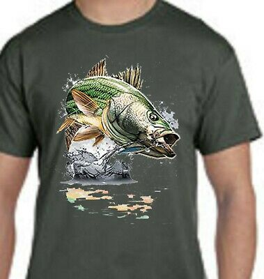 Action Bass T-Shirt Jumping Bass Fishing Tee