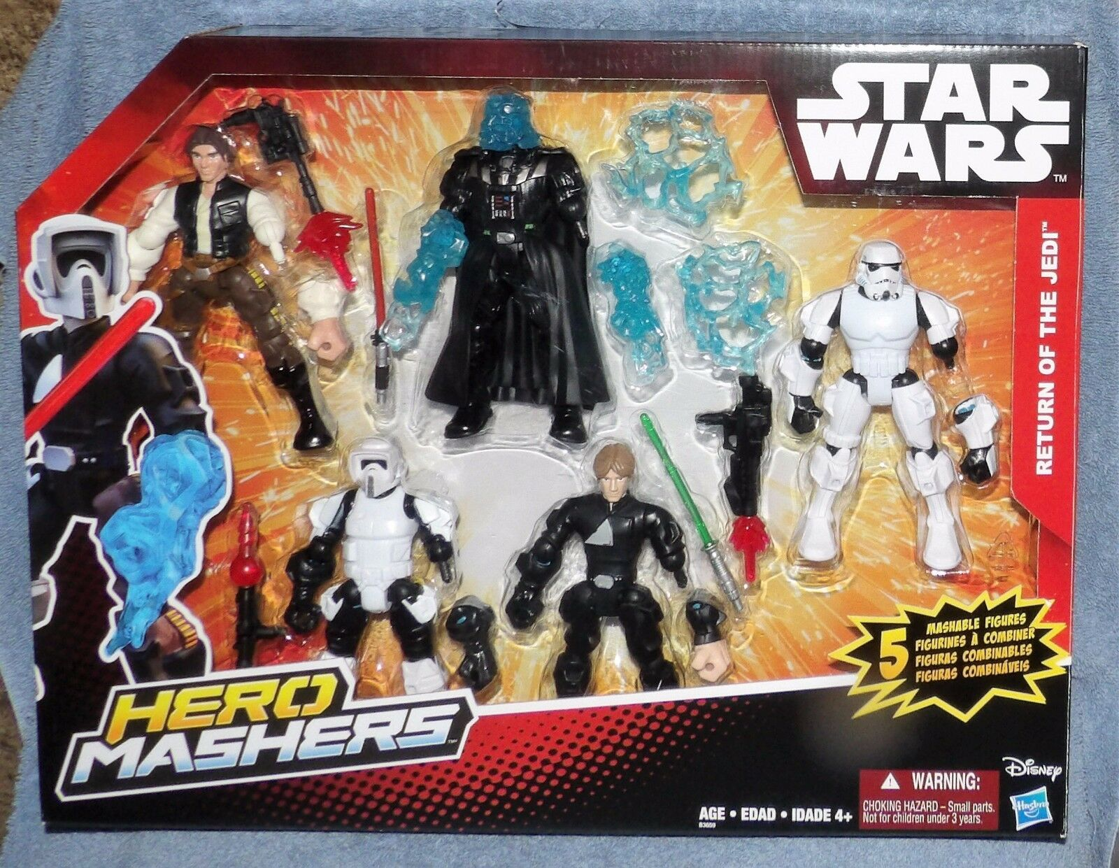 STAR WARS 2015 HERO MASHERS RETURN OF THE JEDI SET 5 FIGURES