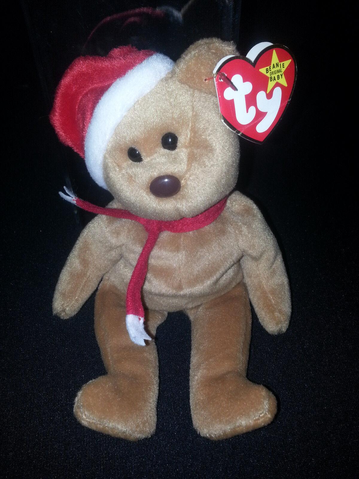 Super - seltenen ty beanie baby 1997 urlaub teddy 4200 tag 8 fehler, fehler im ruhestand