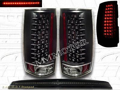 07-13 Chevy Tahoe//Suburban GMC Yukon SLE//SLT//Denali LED 3Rd Brake Lights Smoke
