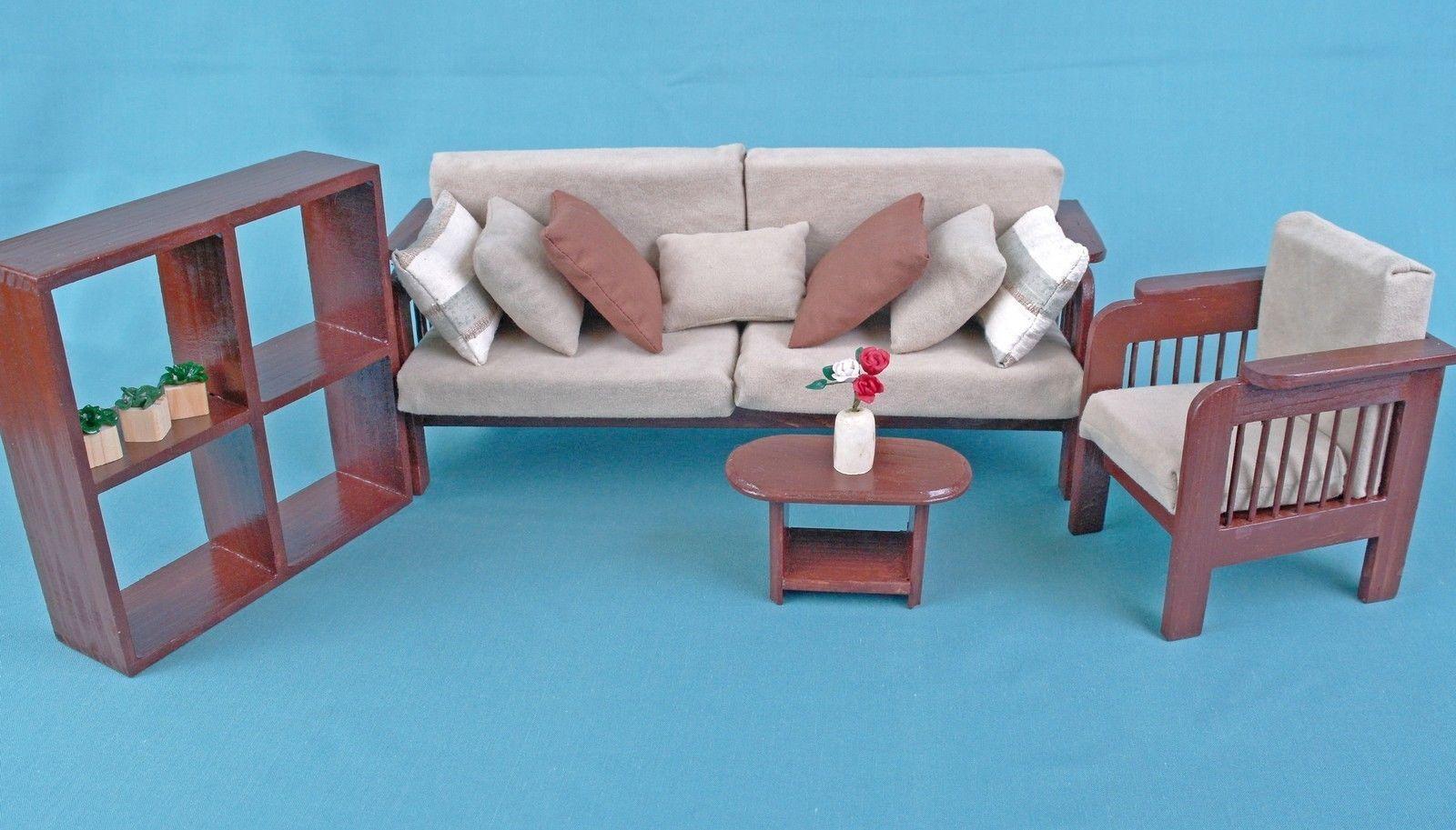 Living Room Marronee set Sofa Armchair  shelf coffeetable wooden bambolaHOUSE Furniture  tutti i beni sono speciali