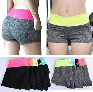 Image Is Loading Women Ladies Girls Shorts Training Fitness Sports Gym