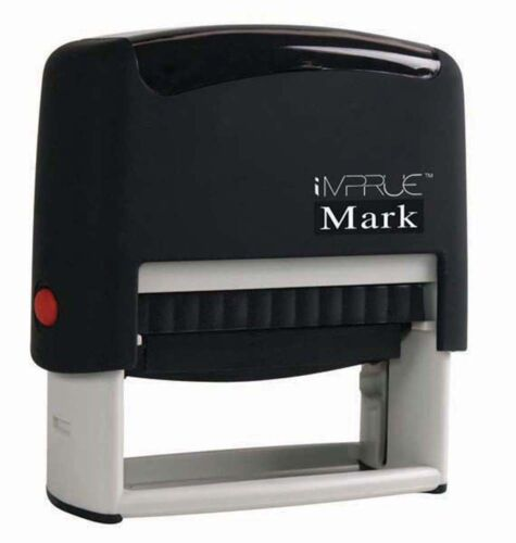 Custom Check Endorsement 4 LINE Self-Inking Rubber Stamp Banking use 9013