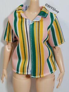 MATTEL YELLOW MEOW KITTY TOP SHIRT BARBIE FASHIONISTAS FASHION CLOTHES