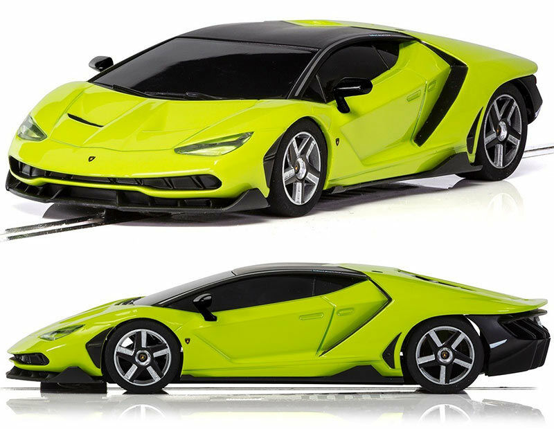 SCALEXTRIC Slot Car C3957 Lamborghini Centanario - Green