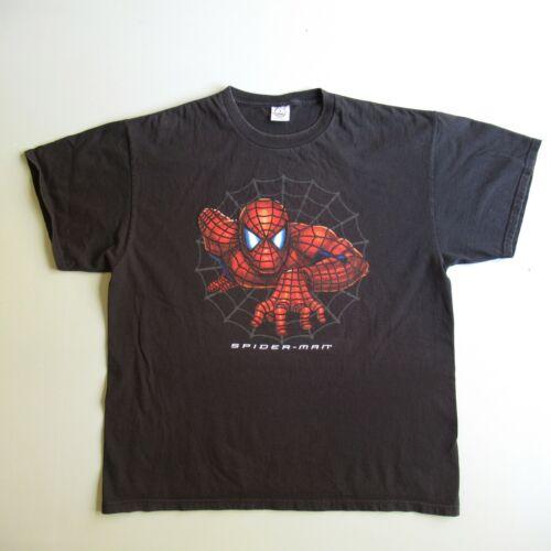 Spiderman Movie Promo T Shirt Black XL