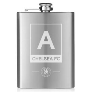 Chelsea F.c - Personalised Hip Flask (monogram) Circulation Sanguine Tonifiante Et Douleurs D'ArrêT