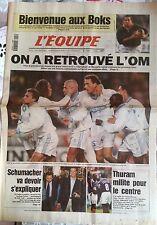 L'Equipe Journal 11/11/1997; BOks-Barbarians/ l'OM retrouvé/ Thuram/ Schumi