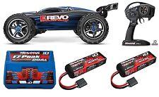 Traxxas 56086-4 1/10 E-Revo Brushless TQi RTR TSM W/ 2 X LIPO TRAD65BBL BLUE GP