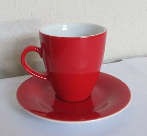 Kahla-Germany-Red-Cup-amp-Saucer
