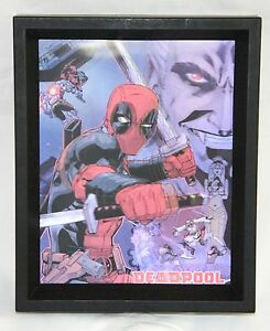 Image Is Loading Deadpool Holding Swords Collectible Framed Wall Decor Marvel