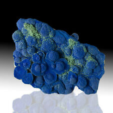"""5.8"""" Blueberry Blue AZURITE 3-DRound Crystal Concretions w/Malachite NM for sale"""