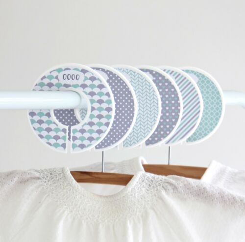Stylish Wardrobe dividers Unisex Grey and Mint Decorative Closet organisers