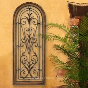 French Tuscan Arched Window Mediterranean Style Wall