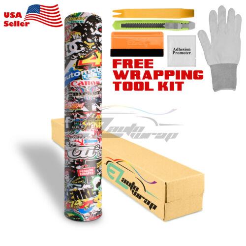 *Premium JDM USDM Anime Graffiti StickerBomb Vinyl Decal Sticker Wrap Sheet #LIO