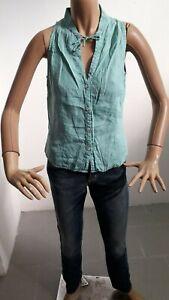 Camicia-PENNYBLACK-Donna-Shirt-Woman-Chemise-Femme-Taglia-Size-44-Puro-Lino-8464
