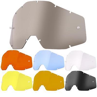 Capace 100% Percentuale Disco Racecraft Accuri Strata Occhiali Vetro Goggle Anti Fog Lense- Volume Grande