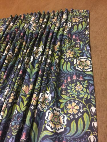Molly Blue William Morris Style Hand Sewn Curtains Made To Measure 2 Cols
