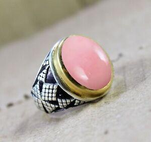 Pink Opal Natural Gemstone 925 Solid Sterling Silver Handmade Earring
