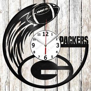 Green Bay Packers Vinyl Wall Clock Made