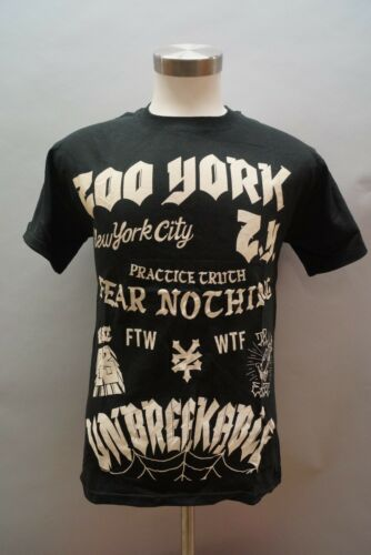 NWT Men/'s Zoo York What The Stack Tee-Shirt  Size S,L,XL Blk 91773